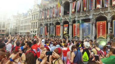 1.700 festivaliers ont dansé sur les sons de Tomorrowland… sur la Grand'Place de Bruxelles