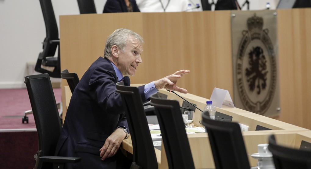 Former Belgian Prime Minister Yves Leterme pictured during a session of the parliamentary inquiry commission on the plea agreement, at the federal parliament, in Brussels, Wednesday 12 July 2017. This commission enquire the citconstances which led to the approbation and the application of the law of 14 April 2011 on the plea agreement. BELGA PHOTO THIERRY ROGE