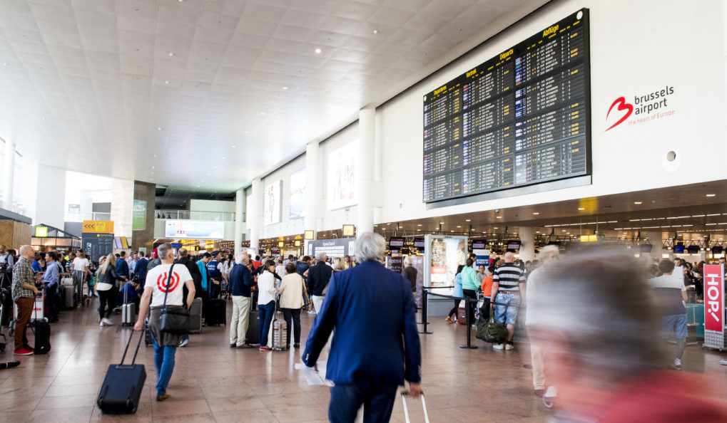 Illustration picture shows the departure hall during a power outage at Brussels Airport, in Zaventem, Thursday 15 June 2017. BELGA PHOTO JASPER JACOBS