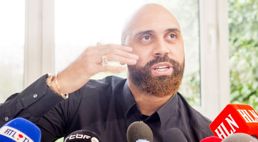 Anthony Vanden Borre pictured during a press conference about his career, on Thursday 02 March 2017, in Brussels. Vanden Borre will join Congolese team Tout Puissant Mazembe. BELGA PHOTO FILIP DE SMET