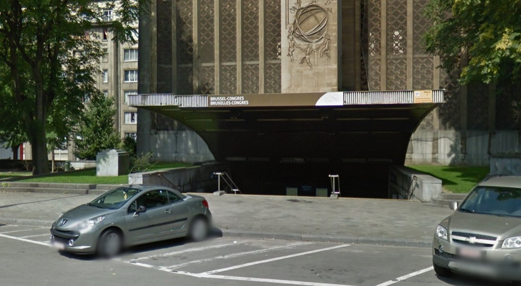 Gare Bruxelles-Congrès - Google Street View