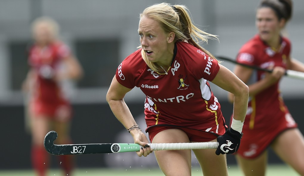 Belgium's Jill Boon pictured in action during a game between Belgium and New-Zealand, third (out of 4) game in the World League women semifinals, Sunday 25 June 2017, in Brussels. BELGA PHOTO JOHN THYS
