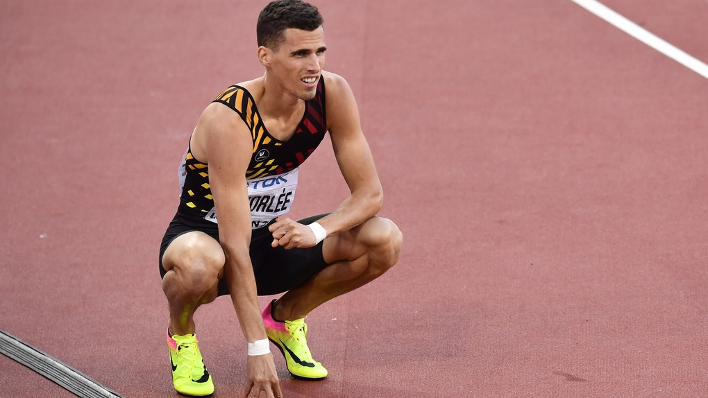 Belgian Kevin Borlee pictured after the men 400m semi final at the IAAF World Championships 2017 in London, United Kingdom, Sunday 06 August 2017. The -finals Worlds are taking place from 4 to 13 August. BELGA PHOTO DIRK WAEM