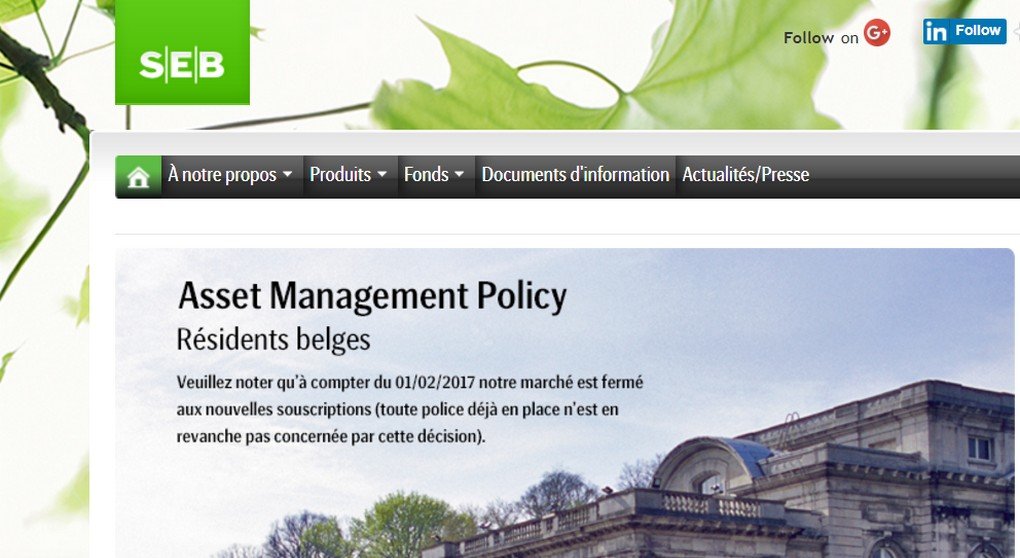 Seb Life - Assurances - Site web