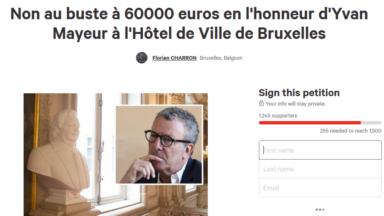 Une pétition pour dire non au buste d'Yvan Mayeur à l'Hôtel de Ville de Bruxelles