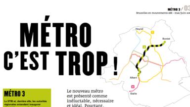 Revue de presse : «M3TRO c'est trop !» (Bruxelles en Mouvements – Inter-Envirronement Bruxelles)