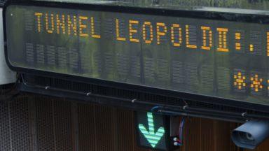 Le tunnel Leopold II fermé dans les deux sens cette après-midi