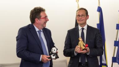 Le maire de Berlin en visite à Bruxelles pour sceller les 25 ans d'amitié entre les deux villes