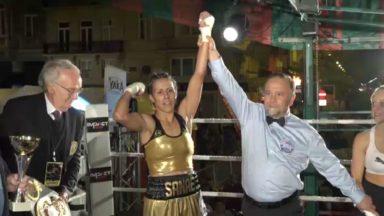 Réunion de boxe de Bruxelles : victoire de la Belge Sanae Jah