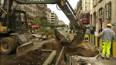 Débuts des travaux sur le piétonnier : un tronçon témoin entre la rue Grétry et la rue de l'Evêque