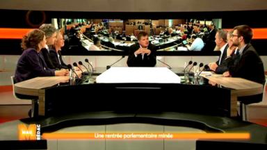 Rentrée du parlement bruxellois : les chefs de groupe réunis sur le plateau de M
