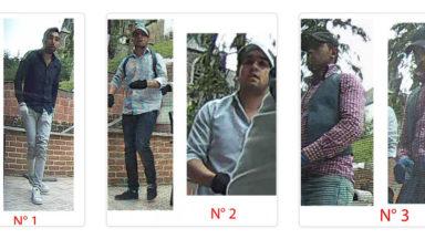 La police cherche à identifier trois individus pour une enquête