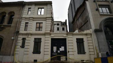Bruxelles : la façade néo-classique de la rue Ducale doit être reconstruite à l'identique