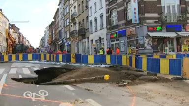 Une 2e fuite détectée sur le chantier de l'effondrement de la chaussée de Louvain