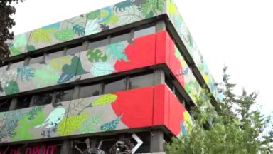 Une grande fresque murale colore le Solbosch pour le rentrée universitaire