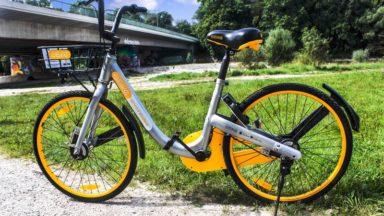 oBike, le système de vélos partagés sans station fixe, est lancé à Bruxelles