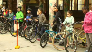 Semaine de la Mobilité : des élèves s'initient au vélo en ville