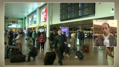 Les voyageurs affluent à Brussels Airport avant les vacances d'automne