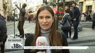 La première statue de Jacques Brel à Bruxelles a été inaugurée