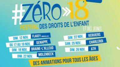 Le Festival des droits de l'enfant #ZÉRO>18 dans deux communes bruxelloises en novembre