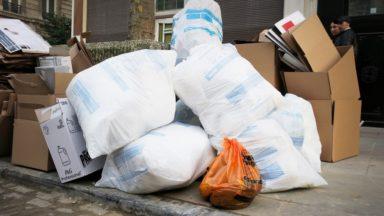 70 sacs ramassés par Bruxelles Propreté au lendemain de l'Aïd El Kebir