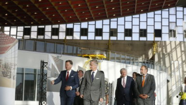 Visite royale à Brussels Airport et chez Deloitte