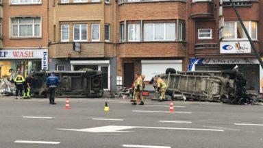 Berchem-Sainte-Agathe : un convoi exceptionnel a perdu son chargement avenue Charles-Quint