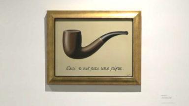 Le célèbre tableau de Magritte « Ceci n'est pas une pipe » exposé exceptionnellement en Belgique