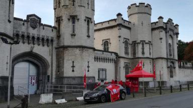 Action dans les prisons: plus de la moitié du personnel présent dans les prisons de Bruxelles
