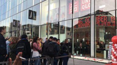 Le premier magasin Uniqlo pris d'assaut à Bruxelles