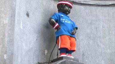Bruxelles devient capitale du fair-play : Manneken-Pis se déguise en… sportif