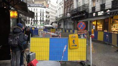 Bruxelles : alors que la période des fêtes arrive, les travaux près de la place Saint-Géry n'en finissent pas