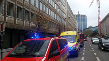 Une enveloppe contenant de la poudre suspecte arrivée à la Banque Nationale de Belgique