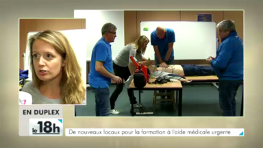 Découverte des nouveaux locaux (temporaires) pour la formation à l'aide médicale urgente