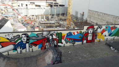 Une nouvelle fresque de rue, inspirée de l'œuvre de Fernand Léger, prend forme devant BOZAR