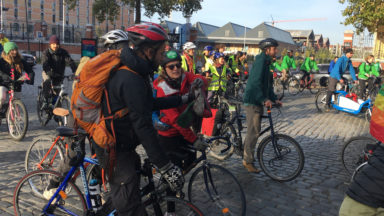 Des cyclistes d'Ottignies arrivent vers Bruxelles pour réclamer une autre mobilité et une meilleure qualité de l'air
