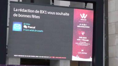 Brussels Wish vous permet d'envoyer vos vœux sur grand écran et de faire un don aux Restos du Cœur