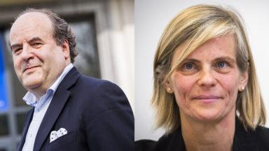 Yvon Englert, recteur de l'ULB et Caroline Pauwels, rectrice de la VUB, sont les Leaders bruxellois de l'année