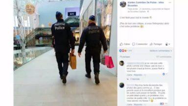 """Deux policiers avec des sacs de cadeaux : """"Les réseaux sociaux font qu'il y a des jugements, sans contexte"""""""