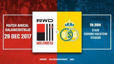 Le derby de la Zwanze entre le RWDM et l'Union Saint-Gilloise aura lieu ce vendredi