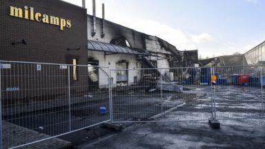 """Incendie de l'usine Milcamps: """"Une gaufre a pris feu"""", explique Marc-Jean Ghyssels"""