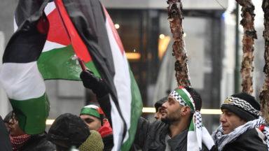 Mobilisation à Bruxelles pour la journée de solidarité avec les prisonniers palestiniens
