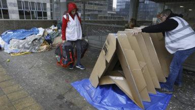 ORIG-AMI : des tentes en carton pliables pour les sans-abri