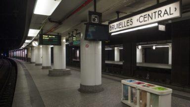 Accident de personne à Bruxelles-Central: retour à la normale