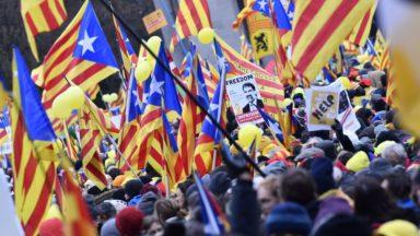 A Bruxelles, 45.000 Catalans crient leur colère sur l'Espagne et sur l'Europe