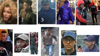 Incidents à Bruxelles : la police lance un appel à témoins pour identifier 9 suspects