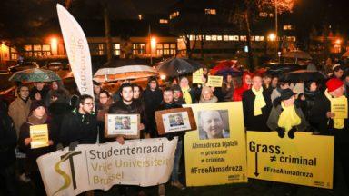 Manifestation devant l'ambassade d'Iran contre l'exécution d'un professeur de la VUB