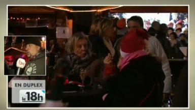 Hommage à Johnny Hallyday au marché de Noël de Molenbeek