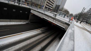 Intempéries: une centaine d'interventions et des fermetures temporaires de tunnels à Bruxelles