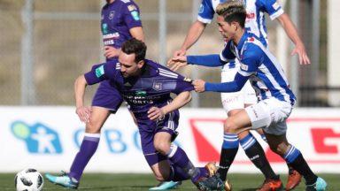 Après sa défaite contre Utrecht, le RSC Anderlecht partage face à Heerenveen